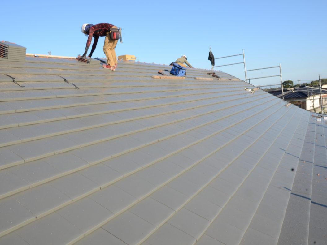 屋根瓦葺替工事の改修後画像