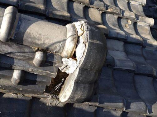 棟取合い部補修工事の改修前画像
